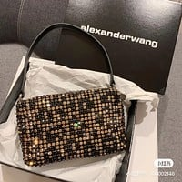 Alexander McQueen Women Leather monnogam Handbag Crossbody bags   Shouldbag Bumbag