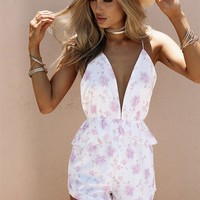 Pastel Blooms Playsuit - Playsuits by Sabo Skirt