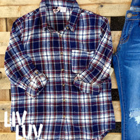kailey plaid flannel button down