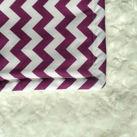 Adult Size Minky Blanket Throw Lap Quilt Purple by BlueBearDesigns