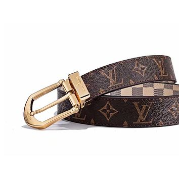 LV Louis vuitton selling a pair of printed monogram checked fashion belts