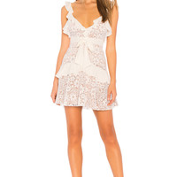 For Love & Lemons X REVOLVE Lace Mini Dress in White