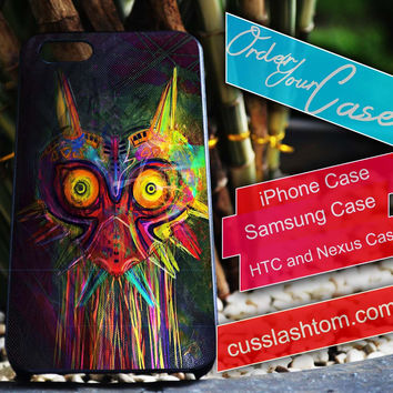 Exclusive Zelda Majora's mask iPhone for 4 5 5c 6 Plus Case, Samsung Galaxy for S3 S4 S5 Note 3 4 Case, iPod for 4 5 Case, HtC One M7 M8