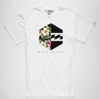 Billabong Floral Hex Mens T-Shirt White  In Sizes
