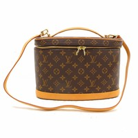 Authentic Louis Vuitton Vanity Bag Nice M47280 Browns Monogram 245584