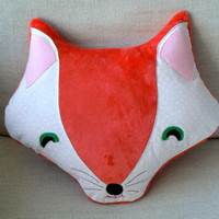 Red Fox Pillow Plush Toy Nursery Decor