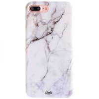 White Marble iPhone 7 PLUS Soft Case