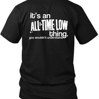 All Time Low Quote 2 Sided Black Mens T Shirt