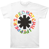 Red Hot Chili Peppers Men's  Overdye T-shirt White Rockabilia