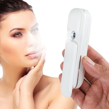 NEW Nano Handy Mist Spray Facial Mister For Eyelash Extensions USB Rechargeable Mini Beauty Instrument With Spray Bottle