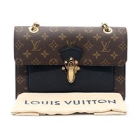 LV Women Shopping Leather Tote Handbag Shoulder Bag Black B