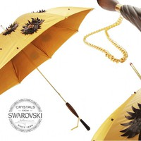 Pasotti Swarovski Sunflower Umbrella