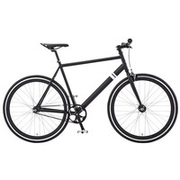 The Overthrow Single Speed Fixed Gear Bicycle in Matte Black & Black Rims