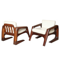 Pair of Studio Armchairs by J. Muckey, Signed