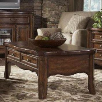 A.R.T. Stone Creek Cocktail Table in Distressed Cherry - 67300-2606 - Accent Tables - Decor