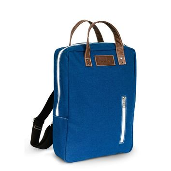 Laptop Backpack - Waxed Navy