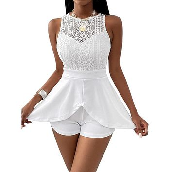 Sexy Short Lace Top Romper One Piece