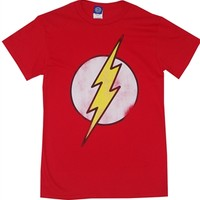 The Flash Vintage Logo t-shirt available online from OldSchoolTees.com | Large selection comic book tee shirts