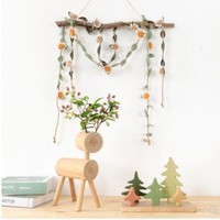 DCCKJR8 Spring ornaments flower rope window shop decoration room ceiling ornaments curtains tied rope wall hangings