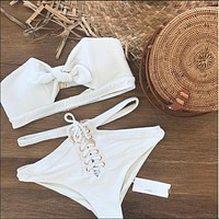 High Quality Sexy Comfortable Summer Ladies White Swimwear [100110630927]