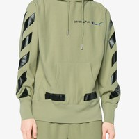 Camo Green Champion Hoodie by OFF WHITE