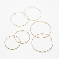Triple Hoop Earring Set