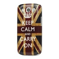 Flags Retro Keep Calm and Carry on Union Jack Flag Case for Samsung Galaxy S3/III I9300