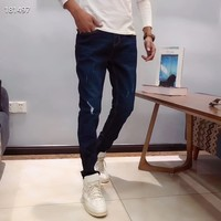 """Calvin Klein""Fashion Casual Men Elastic force  Denim Trousers Jeans"