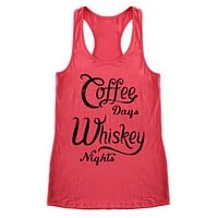Coffee & Whiskey Racerback Tank Top