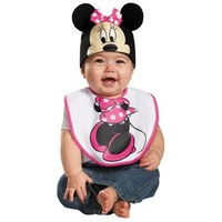 Minnie Mouse Bib & Hat Disneys Minnie Costume Disney Halloween Fancy Dress