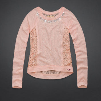 Country Line Lace Back Shine Top