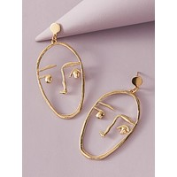 1pair Figure Drop Earrings
