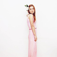 WATERLILY - Hand dyed pink maxi dress