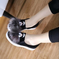 Women Flat Shoes 2016 New Thick Soles High Quality  Designer Leisure genuine leather Espadrilles Shoes Woman Loafers Slip On  41