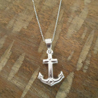 Sterling Silver Anchor Necklace   Candy's Cottage