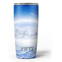 Vivid Blue Reflective Clouds on the Horizon - Skin Decal Vinyl Wrap Kit compatible with the Yeti Rambler Cooler Tumbler Cups