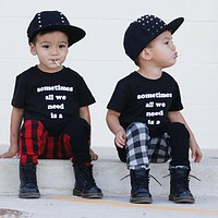 Toddler Kids Baby Boys Harem Pants Trousers Sports Stretchy Legging Casual Pants