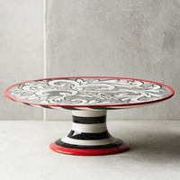 Molly Hatch Felicitation Small Cake Stand in Black & White Size: Small Cake Stand Kitchen