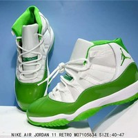 Air Jordan 11 Retro Apple Green Basketball Sneaker Size 40 47