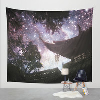By Lantern Light and Starlight Wall Tapestry by Jenndalyn | Society6