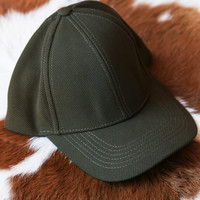 Textured Baseball Cap, Olive