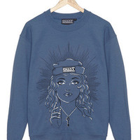 SHADE Angel in Disguise Sweatshirt - Indigo Blue - SHADE London   The official website and online store for SHADE London