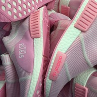 Adidas Nmd Mid City Sock Pink Boost Sport Running Shoes Classic Casual Shoes Sneakers S79153
