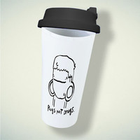 Pugs Not Drugs Cute For Double Wall Plastic Mug ***