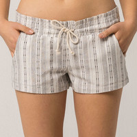 ALMOST FAMOUS Premium Stripe Womens Linen Shorts