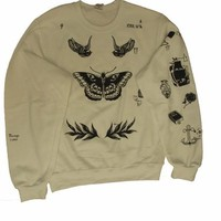 Allntrends Harry Style Sweatshirt Tattoo One Direction Eagle late late