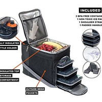 Meal Prep Containers Lunch Bag Box Food Storage Portion Control Plate New Kit
