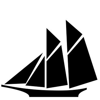 Black Sailboat Waterproof Temporary Tattoos Lasts 3 to 4 days Choose Small, Medium or Large Sizes