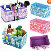 Fashion Nice CHIC Multifunction Beauty Flower Folding Makeup Cosmetics Storage Box Organizer Hot