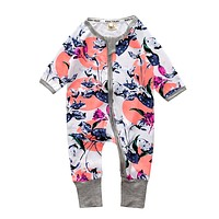 Baby Clothing Pajamas Infant toddler baby rompers baby cotton long-sleeved Boys Girls clothes